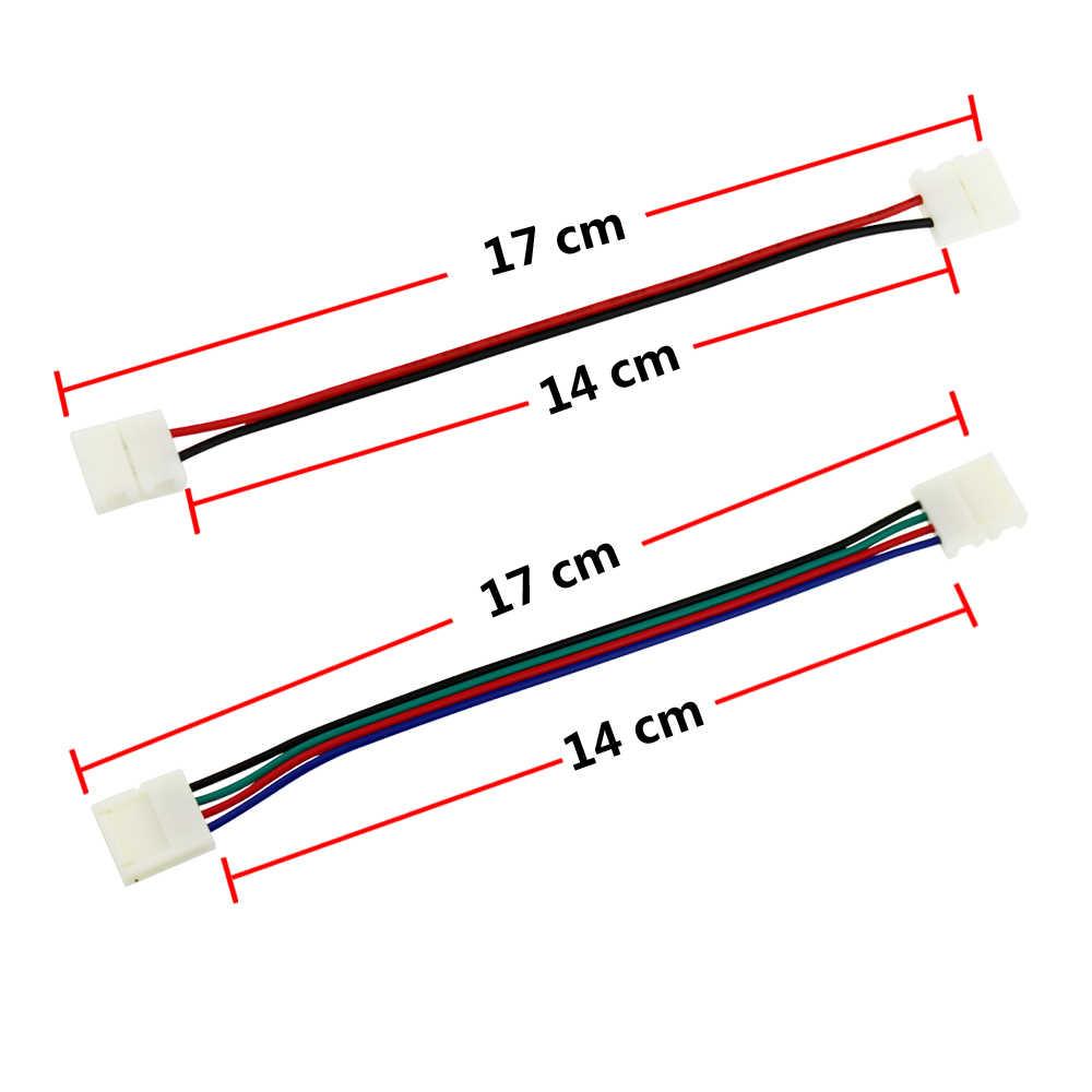 Один цвет/Rgb светодиодные ленты Разъем 4 булавки 2 булавки Разъем Разъемы для светодиодных лент светодиодные ленты провода мощность разъем