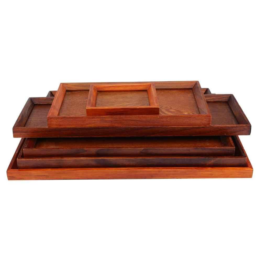 木製和風ディナープレート牛肉ステーキフルーツスナックトレイ茶トレイレストラン収納プレート木製プレート