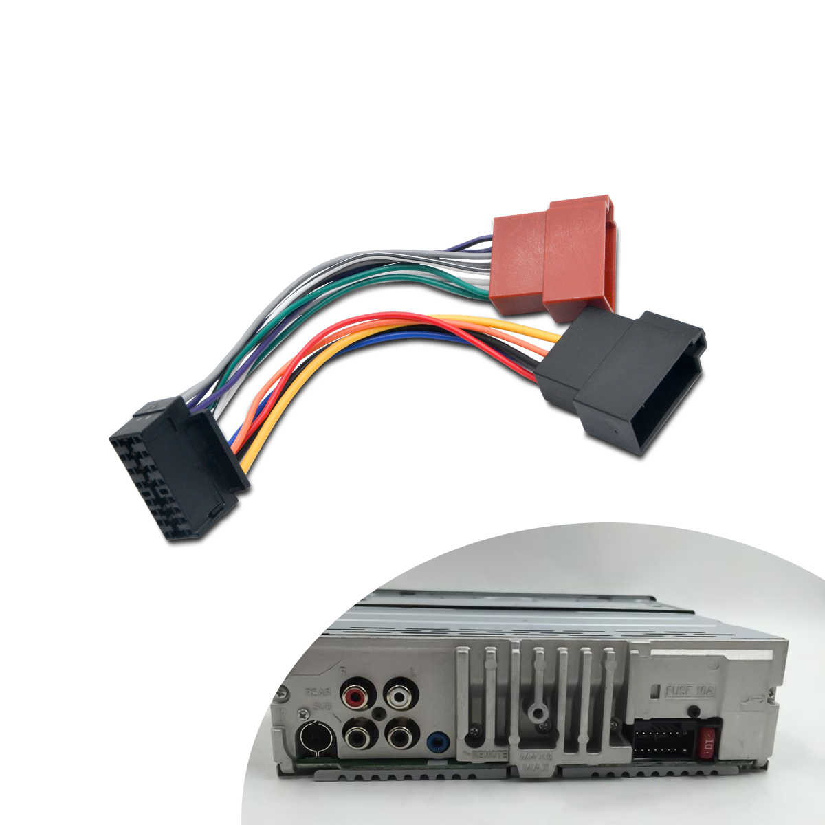 ISO Wiring Harness Connector Adaptor For SONY 16 Pin Car ... on cartoon car, one person car, made by audi flying car, most expensive model car,