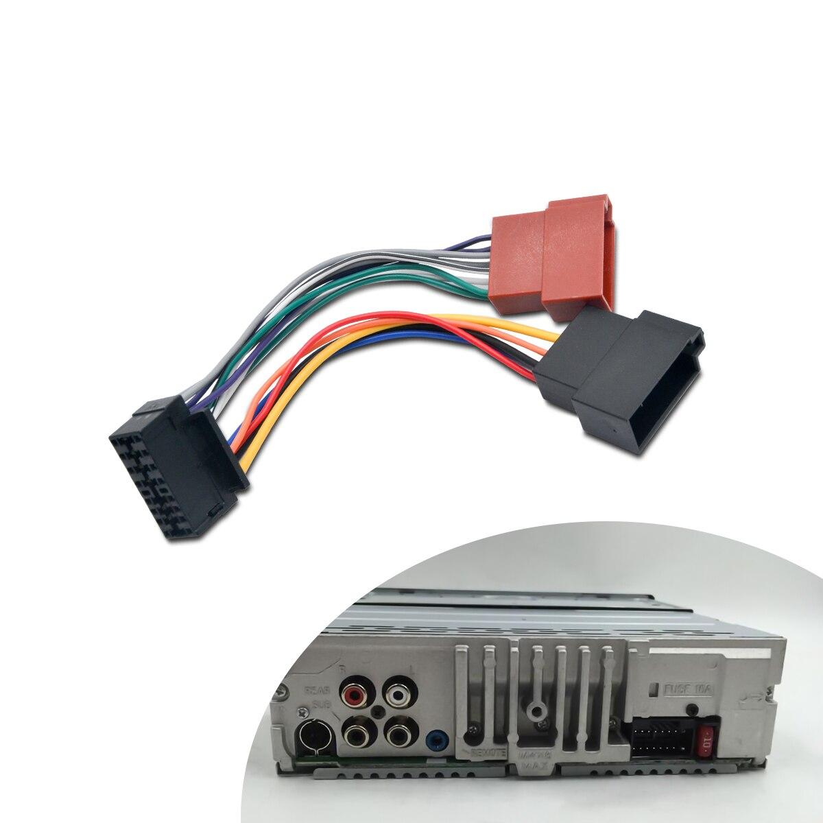 JENOR Adaptateur de c/âble ISO pour autoradio st/ér/éo Peugeot 207 307 407