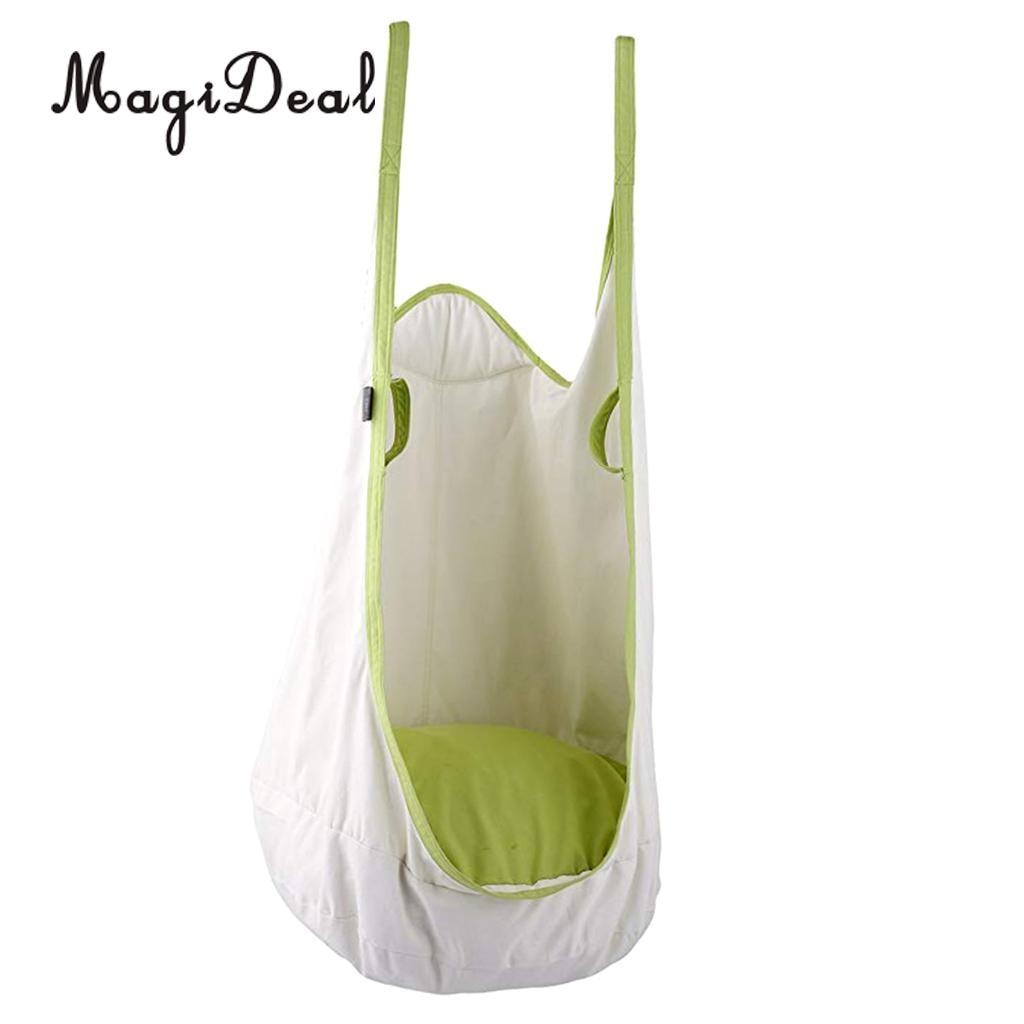 80 KG charge portant suspendu hamac chaise gonflable coussin siège enfant jardin Patio balançoire jouet blanc