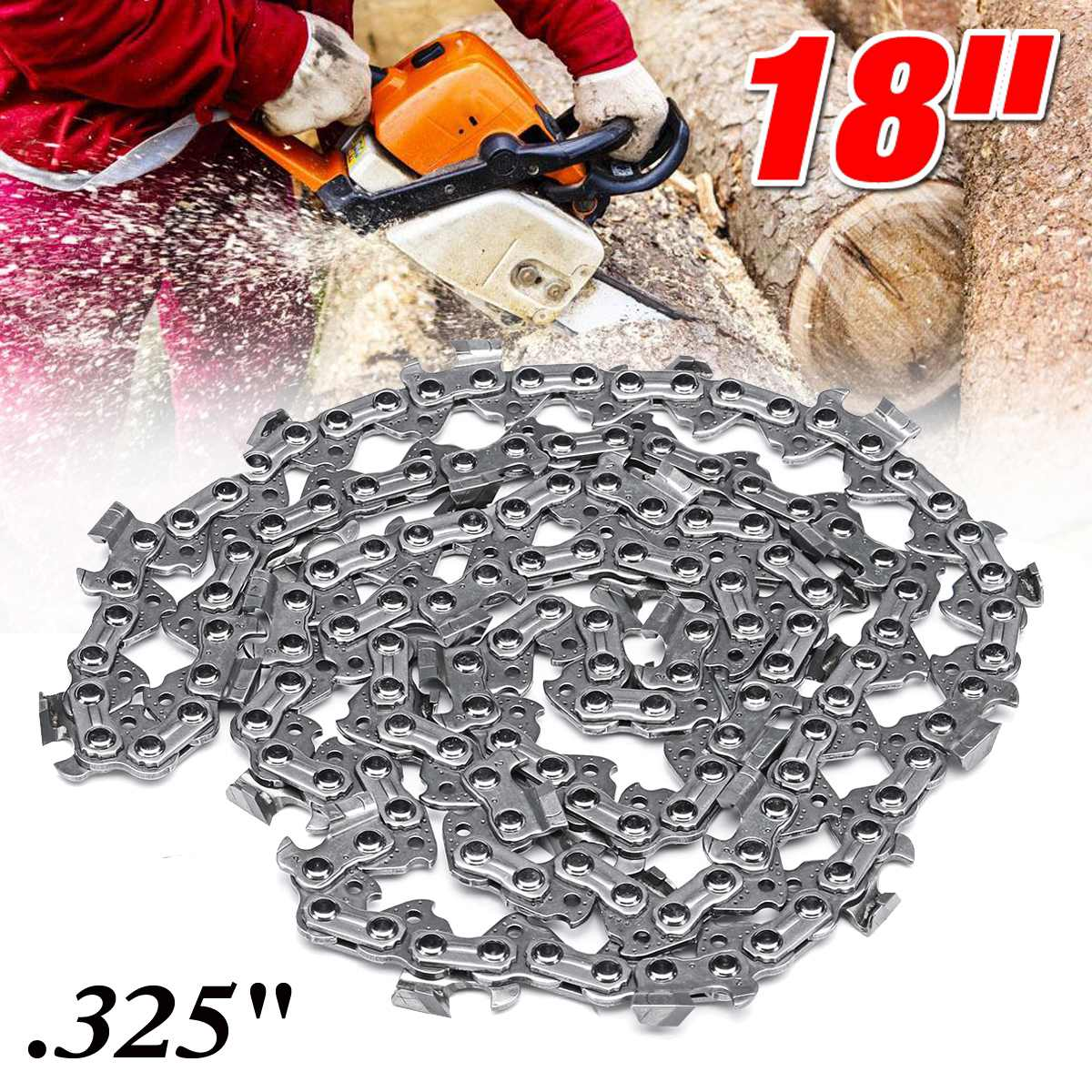 18 inch Chainsaw Chain 68 Link Bar 1.6mm x 0.325