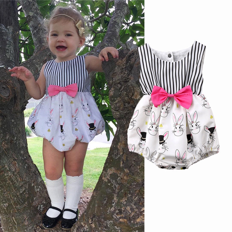 Pudcoco Girl Clothes Cotton Cute Newborn Baby Girl Infant Bunny Rabbit   Romper   Jumpsuit Outfits Clothes