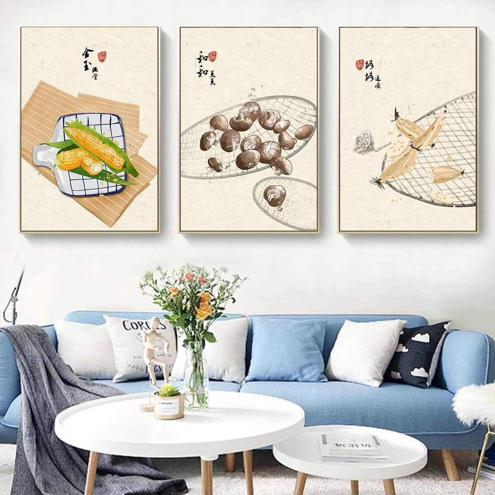 Food Cake Coffee Fruits Quotes Posters Prints Nordic Style Kitchen Cafe Wall Art Pictures Home Decor Canvas
