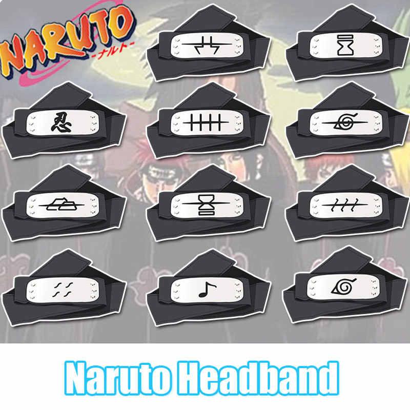 Anime figura Naruto Cosplay Acessórios Headband Do Headband do Clássico Dos Desenhos Animados Unisex O Jiraiya Kakashi Uchiha Itachi Akatsuki Pein