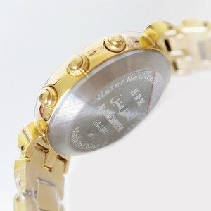 Image 5 - Adhan שעון לנשים מוסלמיות האיסלאם ליידי שעון ב זהב צבע Harameen פאג ר זמן שעוני יד עם Qiblah מצפן אזאן זמן מעורר