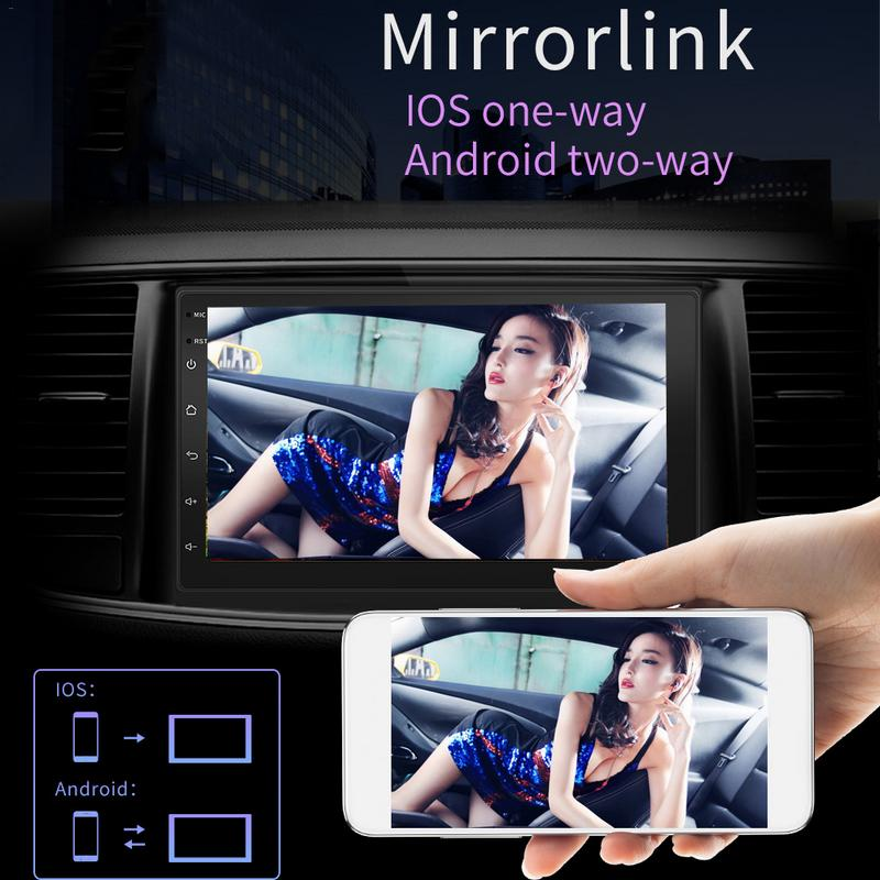 2 din Car Radio Android 8 1 Auto Radio Car GPS Navigator Reverse font b Camera