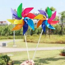 Милая Радужная ветряная мельница для детей ручной работы, Спиннер для сада, вечерние, для кемпинга, ветряной Спиннер, орнамент, декоративные детские игрушки, Новинка