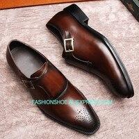 Модная мужская обувь с перфорацией типа «броги» Goodyear ручной работы из натуральной кожи, мужская деловая модельная обувь