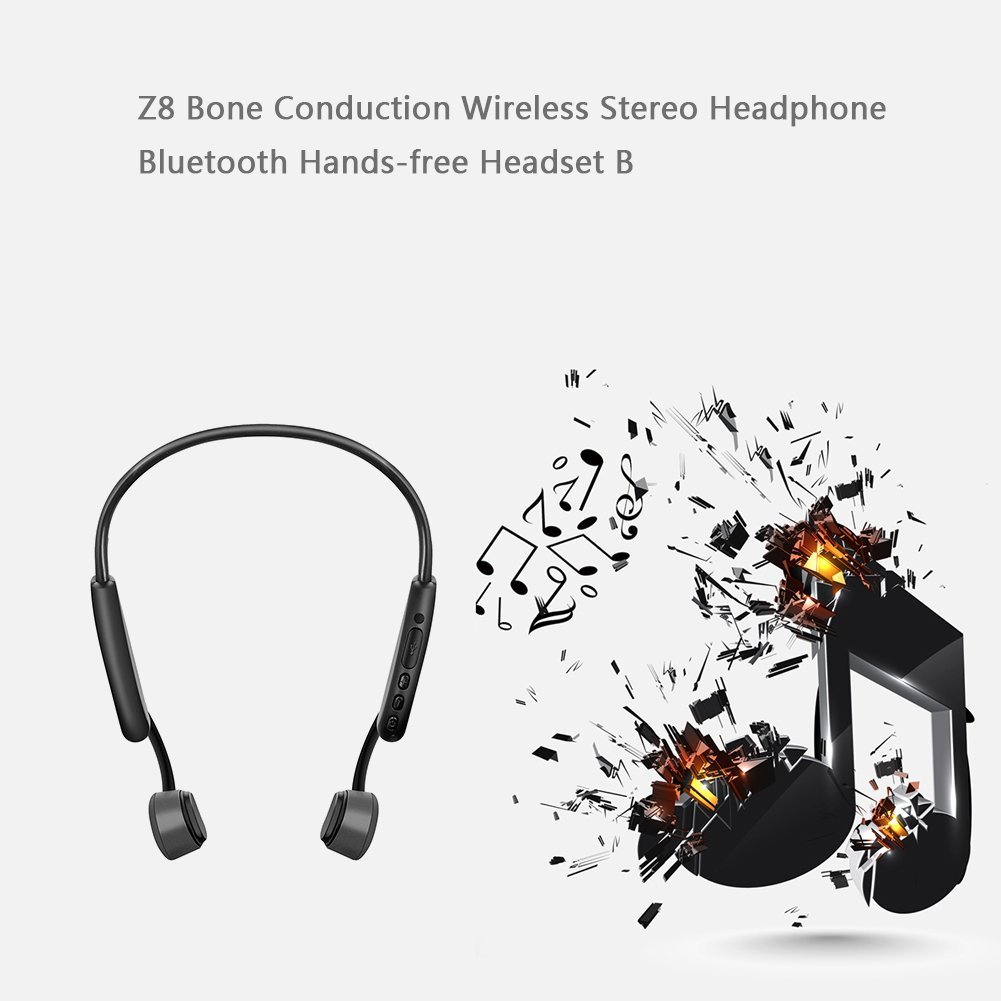 Tenquinze Z8 casque de conduction osseuse Bluetooth appel de musique casque de sport conduction osseuse après suspension casque de sport - 2