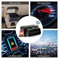 Traqueur de voiture OBD GPS-traqueur de voiture Plug And Play traqueur de voiture OBD GPS traqueur de voiture localisateur en temps réel avec alarme SOS geo-clôture, application gratuite