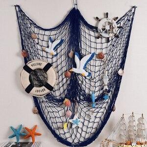 Image 5 - 1 Pc décoratif poisson Net sirène partie océan partie Pirate décoration bricolage Sticker mural suspendus enfants fête danniversaire décor fournitures