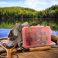 Outdoor Fishing Storage Box Lure Bait Hooks Tackle Tool Container 2 Sides Plastic Case Organizer Portable Outdoor Solid 2019 New