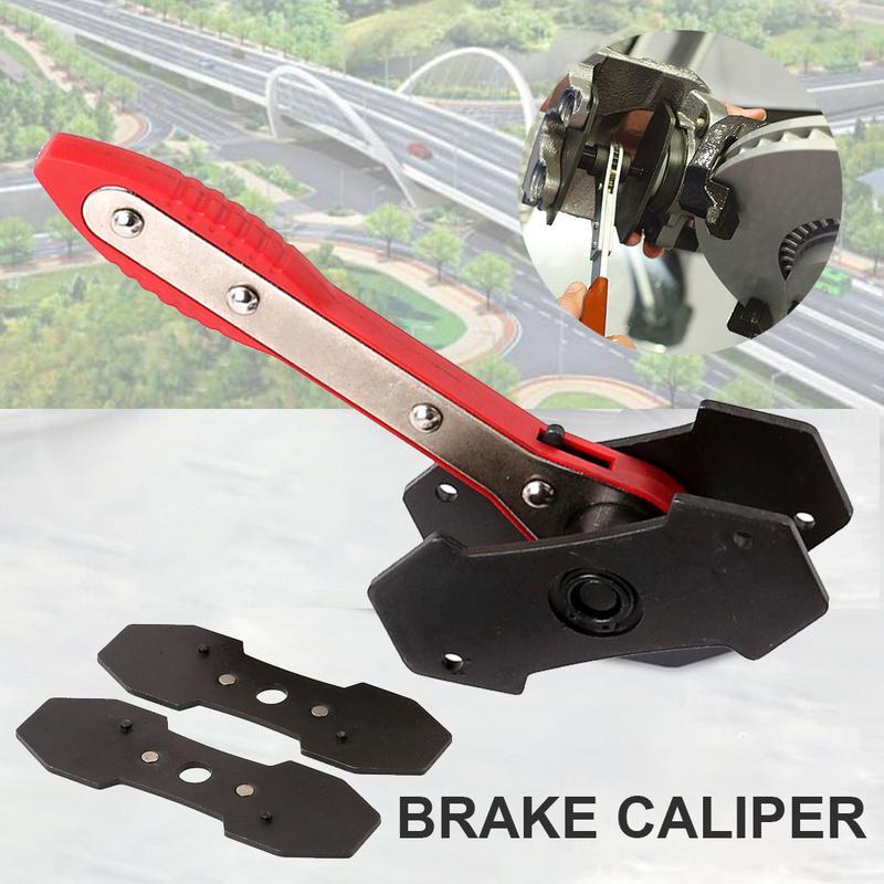 Voiture cliquet frein Piston étrier épandeur outil frein étrier presse double Quad séparateur Pad installer outil 360 degrés cliquet Swing