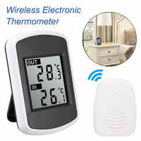 433MHz LCD Digital Wireless Ambient Weather Station Wireless Transmission Range 120 Feet Indoor Outdoor Thermometer
