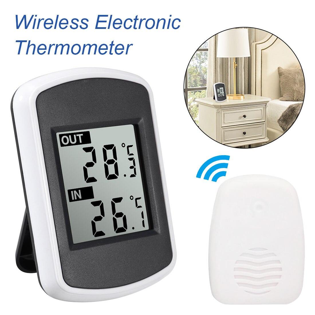 433 MHz Faixa de Transmissão Ambiente Digital LCD Sem Fio Estação Meteorológica Sem Fio 120 Pés Interior Termômetro Ao Ar Livre