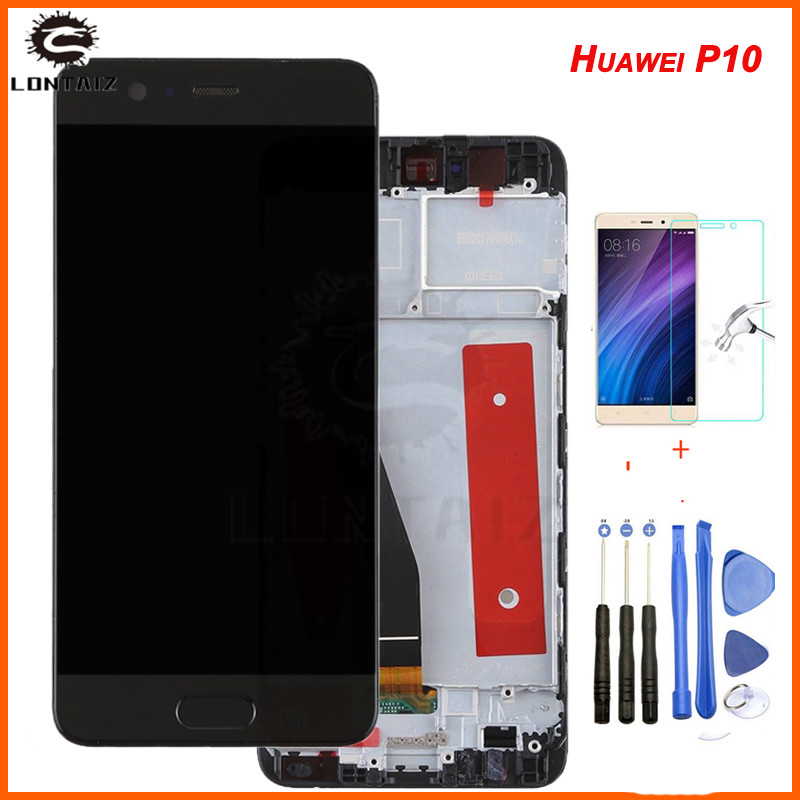 Huawei P10 LCD Display Touch Screen Digitizer Assembly VTR-L09 VTR-L10 VTR-L29 For 5.1 Huawei P10 LCD With Frame ReplacementHuawei P10 LCD Display Touch Screen Digitizer Assembly VTR-L09 VTR-L10 VTR-L29 For 5.1 Huawei P10 LCD With Frame Replacement
