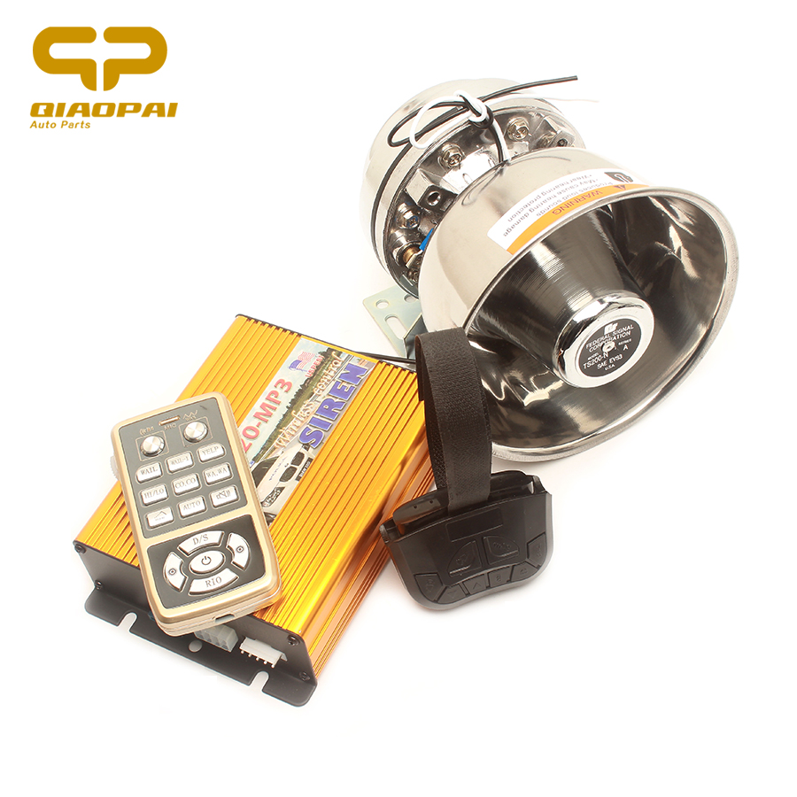 Super Loud Car Horn 12v 200w Alarm Wireless Control Police Siren Multitone Speaker Usb Mp3 Play Megaphone For Vw Golf