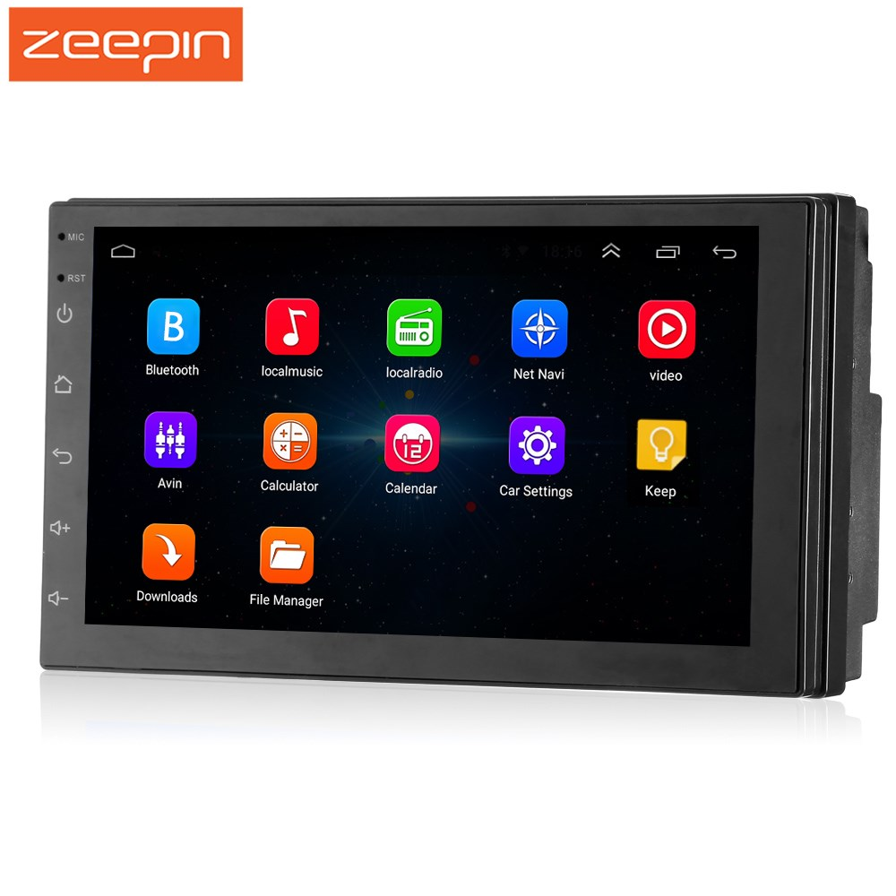 Zeepin 2din Android 7.1 7inch HD Touch Screen Car Multimedia Player 2 Din Car Radio GPS Android Player Support WiFi Buetooth FM
