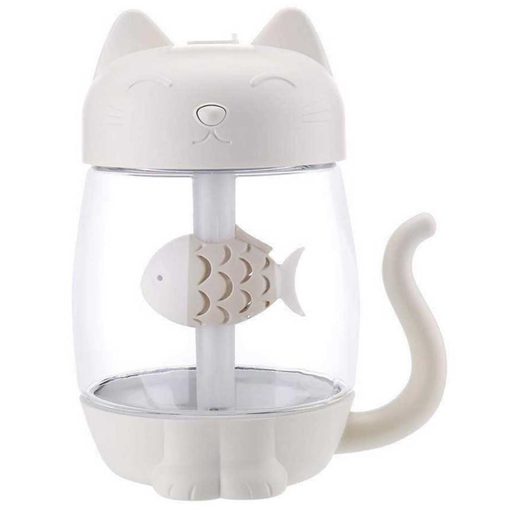 Nouveau chaud 3 en 1 350Ml Usb chat humidificateur d'air à ultrasons Cool-brume Adorable Mini humidificateur avec lumière LED Mini ventilateur Usb pour la maison