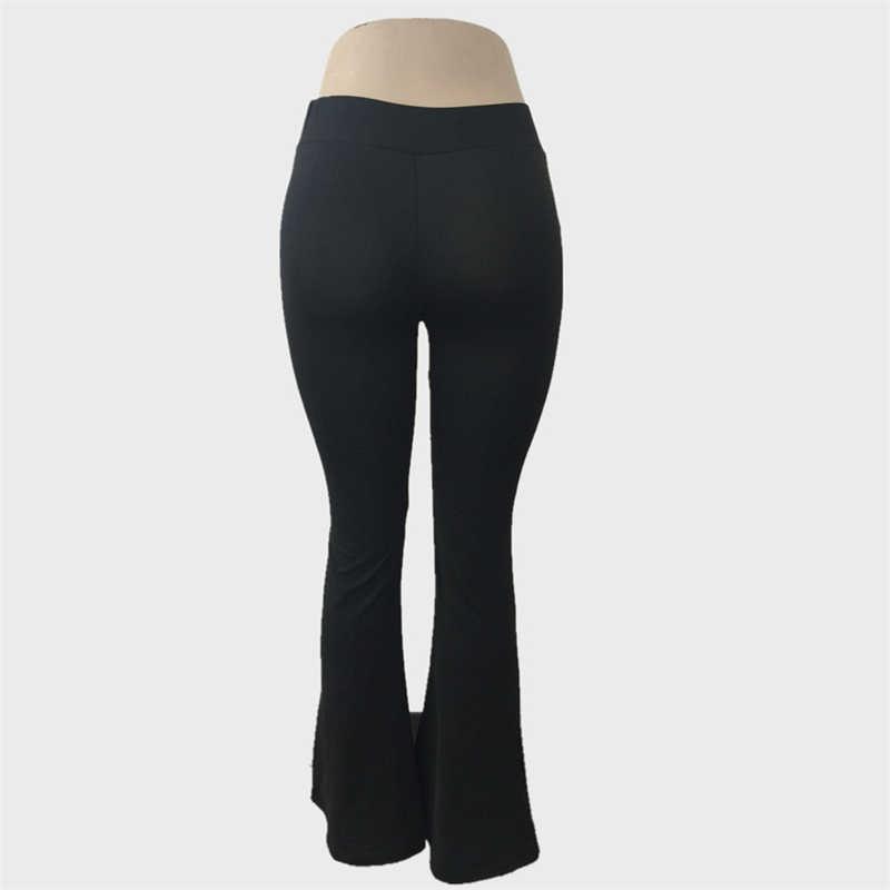 Kadın Parlama Pantolon Çan Alt Sweatpants Spor OL Ilkbahar Sonbahar Yüksek elastikiyet Pantolon Kadın Yumuşak eşofman altları Bayan