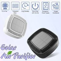 ABS Car Solar Air Purifier Purify Vehicle Home Solar Air Purifier Mini Humidifier Negative Ion Car Oxygen Bar Vehicle Accessory