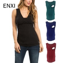 ENXI Breastfeeding Clothes Nursing Tank Top Maternity Ropa Embarazada Pregnancy Shirt Sleeveless T Nurse Tops 2019