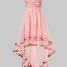 Wipalo Pink Chiffon High Low Party Dress Summer Women Dresses