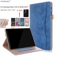 Чехол для Samsung Galaxy Tab A2 10,5 T590 T595 T597 с принтом, умный чехол-держатель для Samsung Tab A 2018 10,5 ''SM-T590 SM-T595