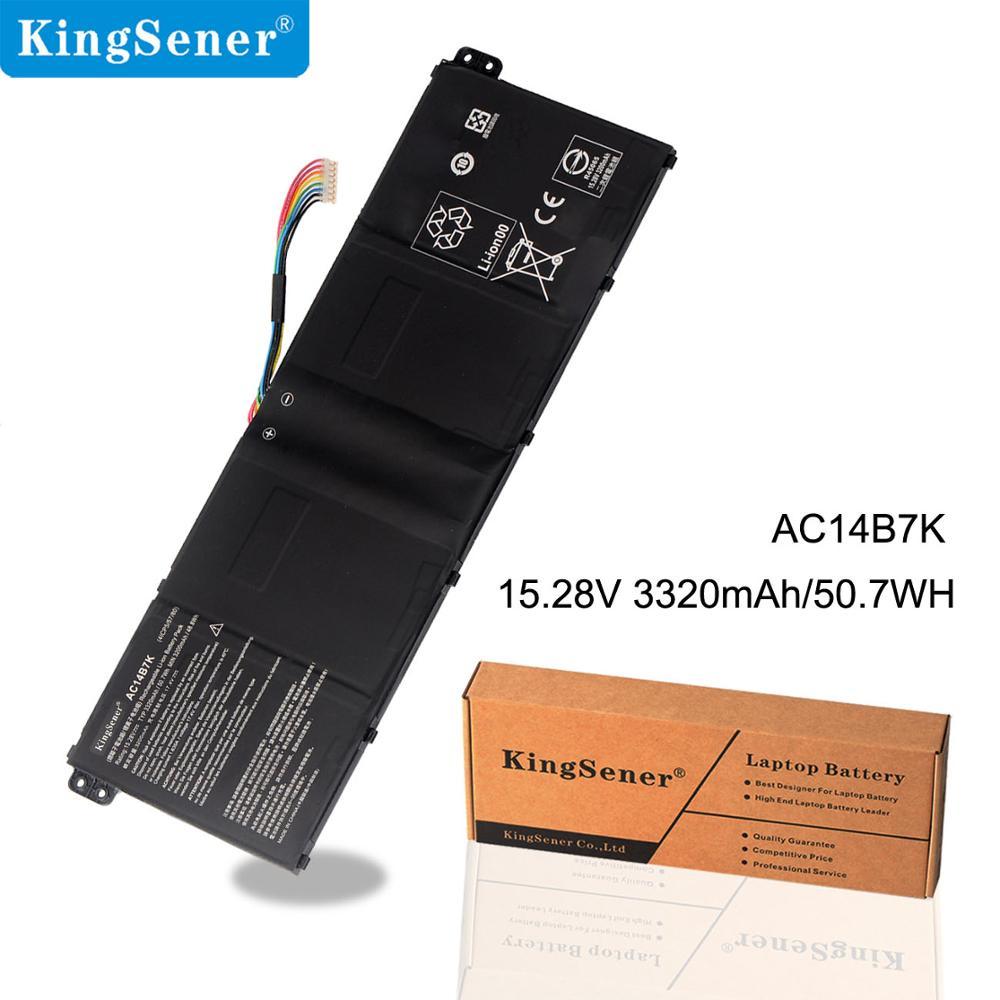 KingSener Brand New AC14B7K Laptop Battery for Acer AC14B7K 4ICP5/57/80 15.28V 3320mAh/50.7WH Free 2 Years Warranty