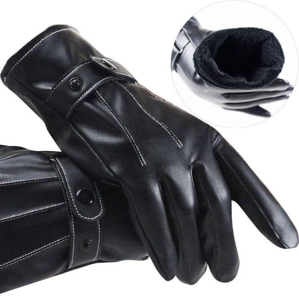 2019 冬の革バイクオートバイの革手袋防水保護冬夏