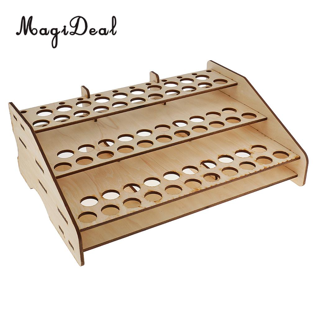 Wooden Bottle Rack Us 24 88 Multifunctional Wooden Paint Bottle Rack Model Organizer Brushes Tool Storage Stand Holder Box Hobby Art Supplies In Model Building Kits