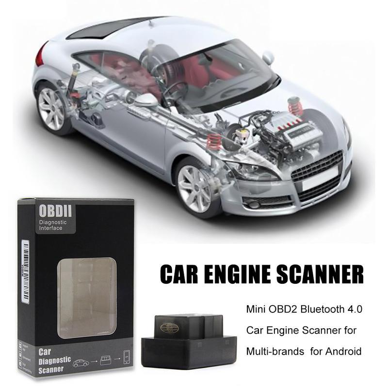 Mini OBD2 Bluetooth 4.0 OBD2 OBDII Car Diagnostic Scanner For Multi-brands For Android Apple Car Engine Scanner