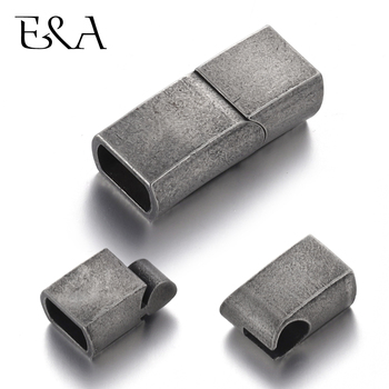 Stainless Steel Magnetic Clasp Lividity Hole 8*5mm Leather Cord Clasps Magnet Buckle Bracelet Supplies for DIY Jewelry Making stainless steel magnetic clasps hole 12 6mm for leather cord bracelet magnet clasp buckle diy jewelry making supplies accessory