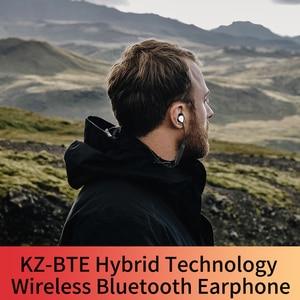 Image 4 - Kz Bte 1dd + 1ba 헤드셋 블루투스 무선 헤드셋 헤드폰/Aptx 스포츠 하이파이베이스 헤드폰 (휴대폰 및 음악 용)