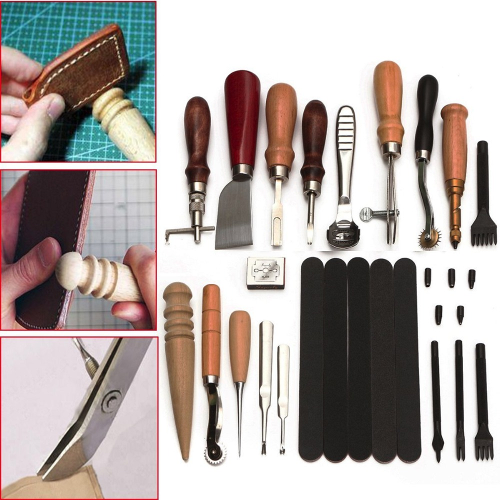 Image 2 - 10 Sets of 18pcs Professional Speedy Stitcher Sewing Awl Tool Kit for Leather Sail & Canvas Heavy Repair Drop Shipping-in Leathercraft Tool Sets from Home & Garden