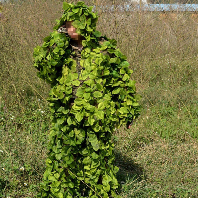 Outdoor Hunting Bird Watching Jungle Leaf Camouflage Ghillie Suits Light Cs Shooting Training Breathable Tops Pants Set ClothingOutdoor Hunting Bird Watching Jungle Leaf Camouflage Ghillie Suits Light Cs Shooting Training Breathable Tops Pants Set Clothing
