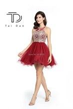 רקמת גבוהה-צוואר קשת שמלת