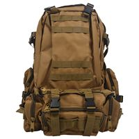 Everyday carry EDC Nylon Backpack Khaki Military Camping Hiking Trekking Climbing Bags     -