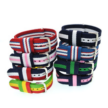 20mm Mix Colors Nylon Watch Band Perlon Woven Watchbands Bracelet Fabric Sport Strap Buckle Belt WB001