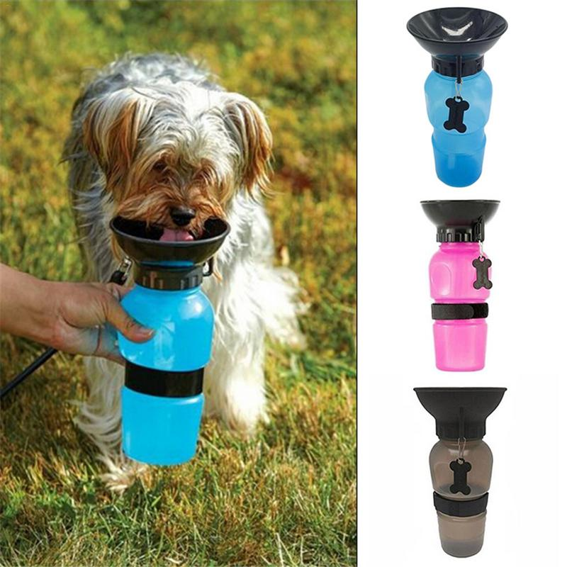 Hot Sells 500ml Dog Drinking Water Bottle Pet Puppy Cat Sport Portable Travel Outdoor Feed Bowl Drinking Water Mug Cup Dispenser