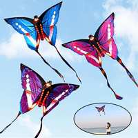 Large Beautiful Butterfly Kite Children Kids Toy Outdoor Sports Butterfly Flying Kite with String Tail Game Sport Gift for Boy