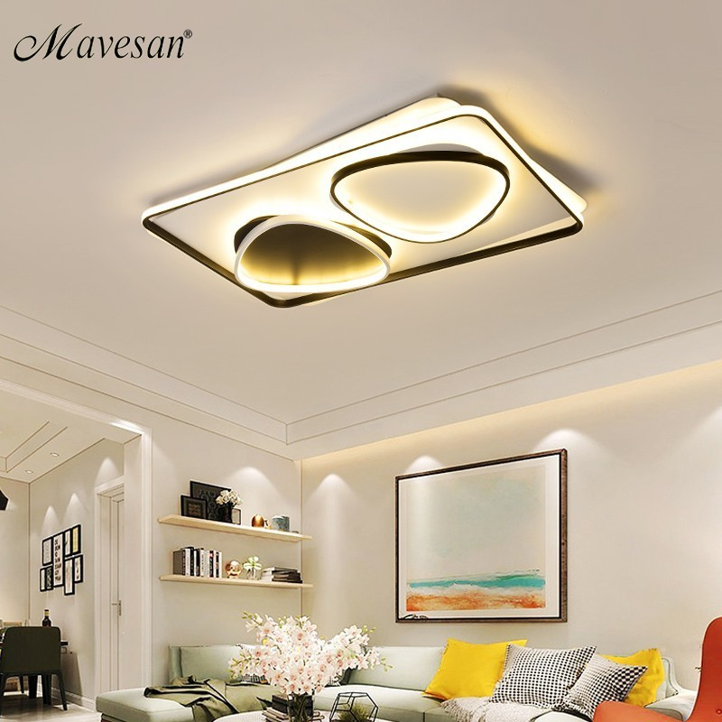 Modern Acrylic ceiling lights for bedroom support 110V and 220V Remote control led surface mount lamps for big house