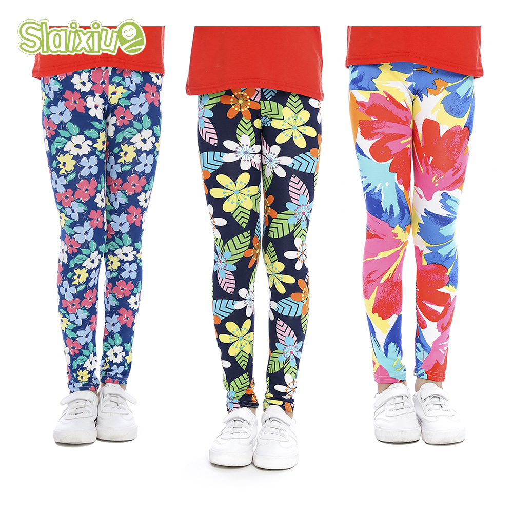 c93a5e940fcaf US $2.75 |SLAIXIU Soft Girls Leggings Baby Girl Clothes Pencil Pants Cotton  Kids Trousers Print Flower Skinny Children Leggings For Girls-in Pants ...