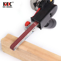 MX DEMEL Sander Machine Sanding Adapter Head Convert M10 With Sanding Belts For 4 Electric Angle Grinder Woodworking