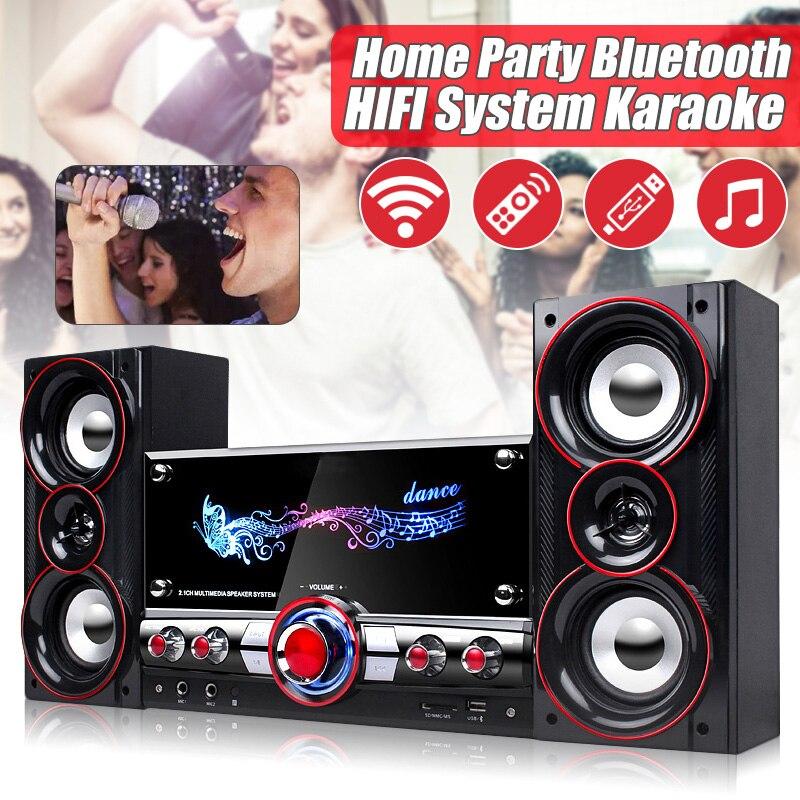 Festa em casa de ALTA FIDELIDADE Sem Fio Sistema de Karaoke bluetooth Dispositivos 3D Som Surround Sistema de Centro de Música para Relaxar Yourself Falantes