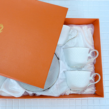 Travel tea set matcha White small honeycomb pattern A of 12 pieces 255ml Holiday Gift exquisite gift box