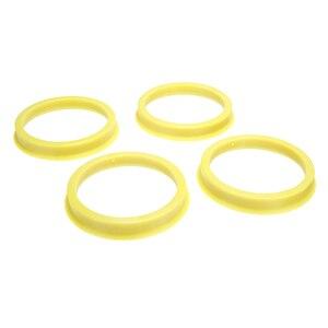 Image 5 - 4 pcs 66.6 à 57.1mm jaune en plastique roue Center collier moyeu central anneau roue jante pièces accessoires de voiture universel pour toutes les voitures
