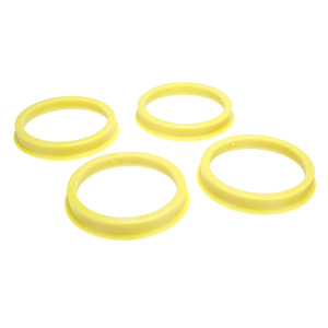 Image 5 - 4Pcs 66.6 to 57.1mm Yellow Plastic Wheel Center Collar Hub Centric Ring Wheel Rim Parts Car Accessories Universal For All Cars