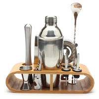 LUDA 12Pcs/Set Stainless Steel Liquor Red Wine Cocktail Shaker Bar Wine Mixer Set Bartender Cocktail Hand Shaker Tool Kit With